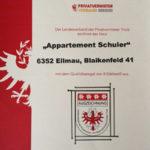 Appartement Kaiserblick in Ellmau - Urkunde 4 Edelweiß